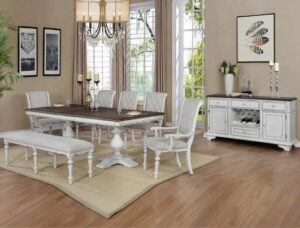 "#2275 – The ""Bardot"" Dining Set with Bench"