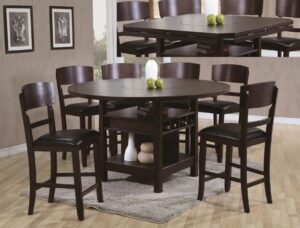 "#2849 – The ""Conner"" Counter-Height Dining Set in Espresso"