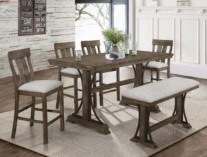 "#2831 – The ""Quincy"" Counter-Height Dining Set with Bench"