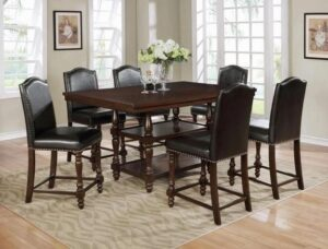 "#2766ESP – The ""Langley"" Counter-Height Dining Set in Espresso"