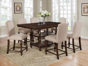 "#2766TAU – The ""Langley"" Counter-Height Dining Set in Taupe"