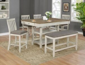 "#2715 – The ""Nina"" Counter-Height Dining Set with Bench"