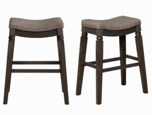 "#2984C29GY – The ""Farlin"" Bar Stool – Set of 2"