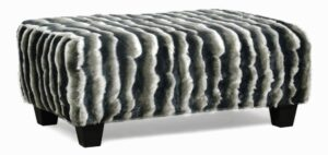 """#300 – The """"Leia"""" Ottoman in Indir Charcoal"""