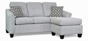 "#5650 – The ""Harmony"" Sectional in Alpha 55/Gigi Black White"
