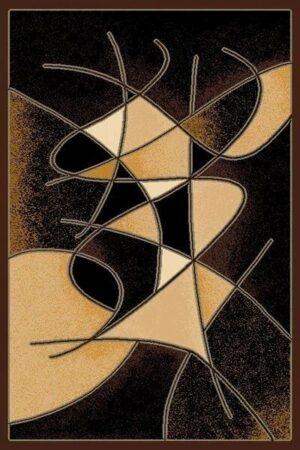 """""""Gallery 24"""" Rug in Black, 6′ x 8′"""