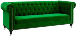 """The """"Hanny"""" Sofa in Green Velvet"""