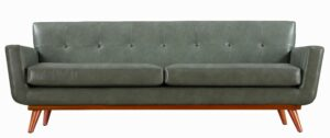 "The ""Lyon"" Sofa in Smoke Grey Faux Leather"
