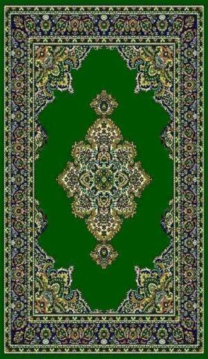 """""""Taj Mahal 101"""" Rug in Green, 6′ x 8′"""