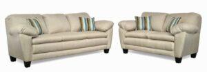 "#5550 – The ""Brooklyn"" Sofa Set in Oscar Linen/Boho Celeste"