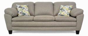 "#5550 – The ""Brooklyn"" Sofa Set in Jitterbug Taupe/Lucky Alpine"