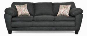 "#5550 – The ""Brooklyn"" Sofa Set in Bulldozer Black/Manthem Graffiti"