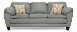 """#5550 – The """"Brooklyn"""" Sofa Set in Bulldozer Graphite/Ventura Cheshire"""