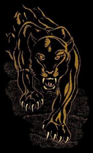 """""""Night Panther"""" Rug, 6′ x 8′"""