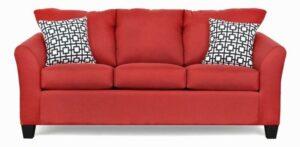 "#5275 – The ""Valerie"" Sofa Set in Oscar Red/Gigi Black White"