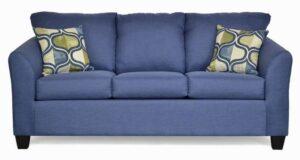 "#5275 – The ""Valerie"" Sofa Set in Oscar Navy/Pop Art Lake"