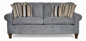 "#2100 – The ""Elizabeth"" Sofa Set in Wrigley Pewter/Warwick Charcoal/Ripley Charcoal"