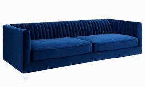 """The """"Aviator"""" Sofa in Navy Velvet"""
