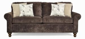 "#2100 – The ""Elizabeth"" Sofa Set in Hearth Walnut/Hearth Khaki/Amore Primary Natural"
