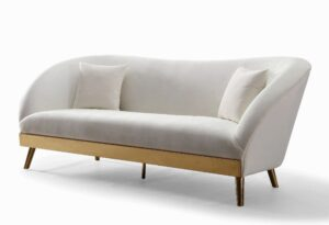 """The """"Chloe"""" Sofa in Cream Velvet"""