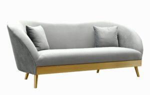 """The """"Chloe"""" Sofa in Grey Velvet"""