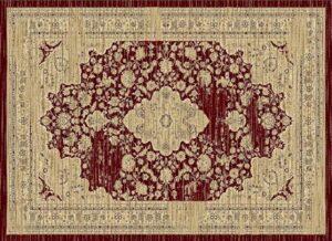 """Hudson 1093"" Rug in Burgundy, 6′ x 8′"