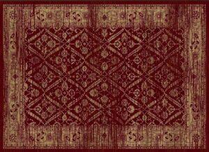 """""""Hudson 1095"""" Rug in Volcano Red, 8′ x 11′"""
