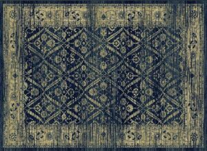 """""""Hudson 1095"""" Rug in Midnight Blue, Available in Two Sizes"""