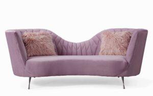 """The """"Eva"""" Sofa in Blush Velvet"""