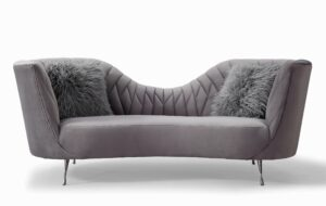 "The ""Eva"" Sofa in Grey Velvet"