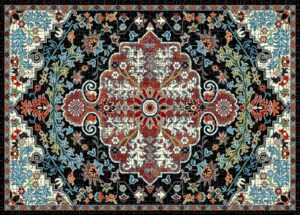 """""""Ibiza 183"""" Rug in Black, Available in Two Sizes"""