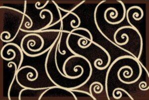"""""""Gallery 23"""" Rug in Black, 8' x 11'"""