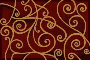 """""""Gallery 23"""" Rug in Burgundy, 8' x 11'"""