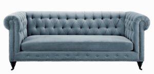 """The """"Hanny"""" Sofa in Grey Velvet"""