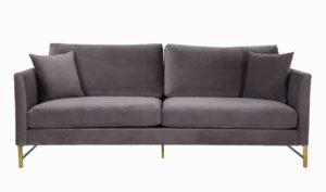 """The """"Massi"""" Sofa in Grey Velvet"""