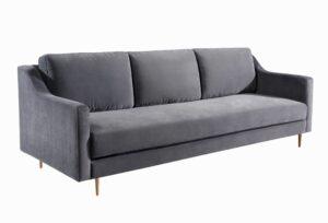 """The """"Milan"""" Sofa in Grey Velvet"""