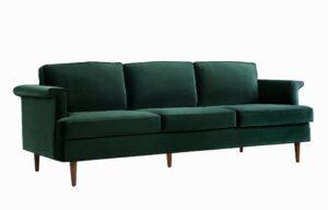 """The """"Porter"""" Sofa in Forest Green Velvet"""
