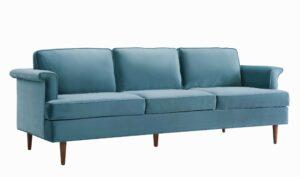 """The """"Porter"""" Sofa in Sea Blue Velvet"""