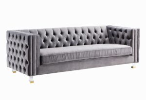 """The """"Rimini"""" Sofa in Grey Velvet"""