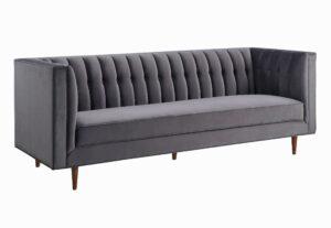 "The ""Sebastian"" Sofa in Grey Velvet"