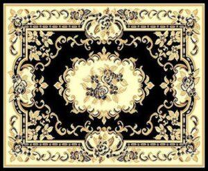 """""""Taj Mahal 117"""" Rug in Black, 6′ x 8′"""