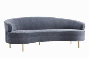 """The """"Baila"""" Sofa in Grey Velvet"""