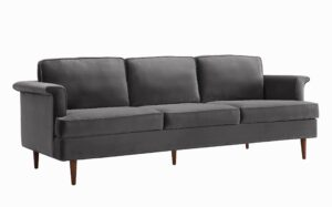 "The ""Porter"" Sofa in Grey Velvet"