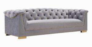 """The """"Farah"""" Sofa in Grey Velvet"""