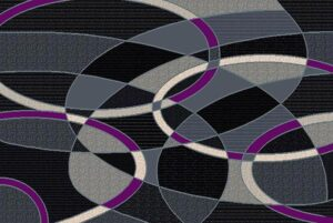 """Trendz 864"" Rug in Purple, 6′ x 8′"