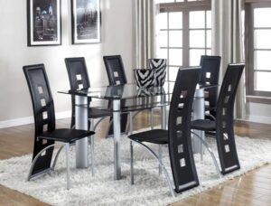 "#1170 – The ""Echo"" Dining Set in Black"