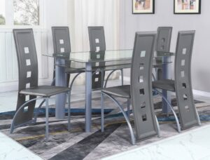 "#1171 – The ""Echo"" Dining Set in Grey"
