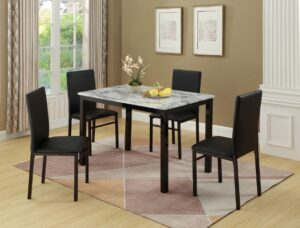 "#1217WH – The ""Aiden"" Dining Set in White"
