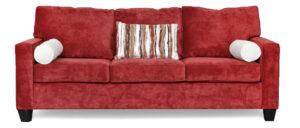 "#1260 – The ""Delilah"" Sofa Set in Sofa Hearth Scarlet/Hearth Bone/Suren Henna"