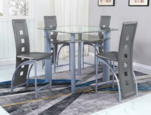 "#1771 – The ""Echo"" Counter-Height Dining Set in Grey"